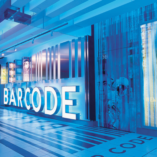 Barcode New York Signage