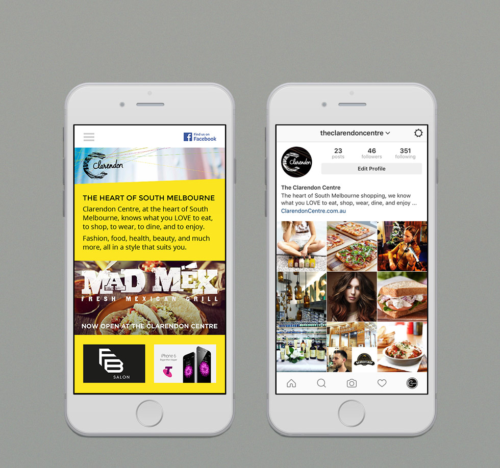 Clarendon Centre Mobile Responsive Site