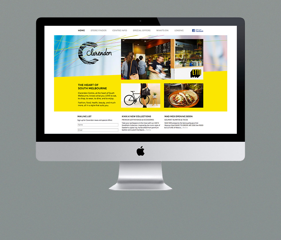 Clarendon Centre Desktop Site